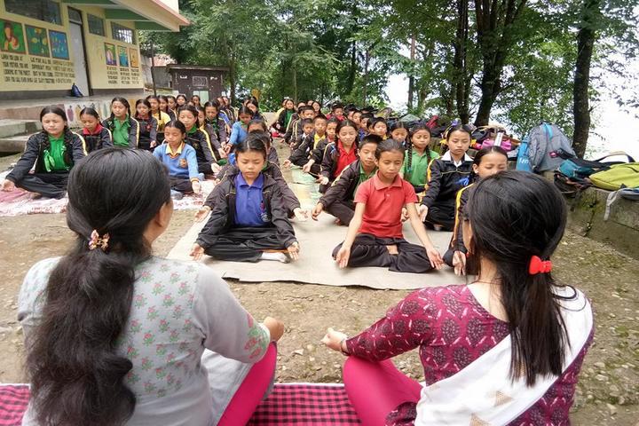 Government Secondary School-International Yoga Day