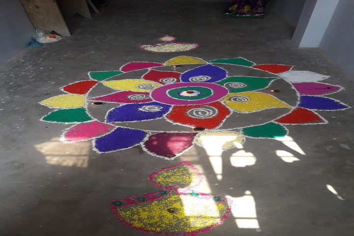 Mother Teresa Vidyapeeth-rangoli Competion
