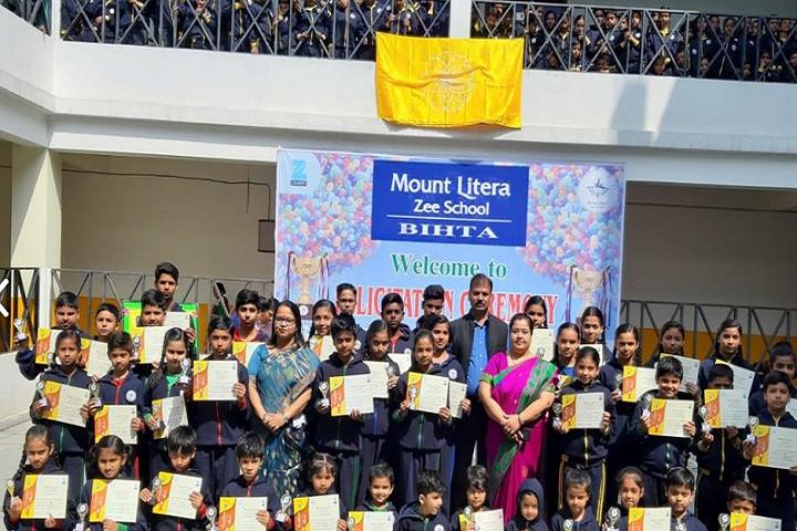 Mount Litera Zee School Bihta- Certificates Distributing