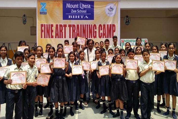 Mount Litera Zee School Bihta- Fine artTraining Camp