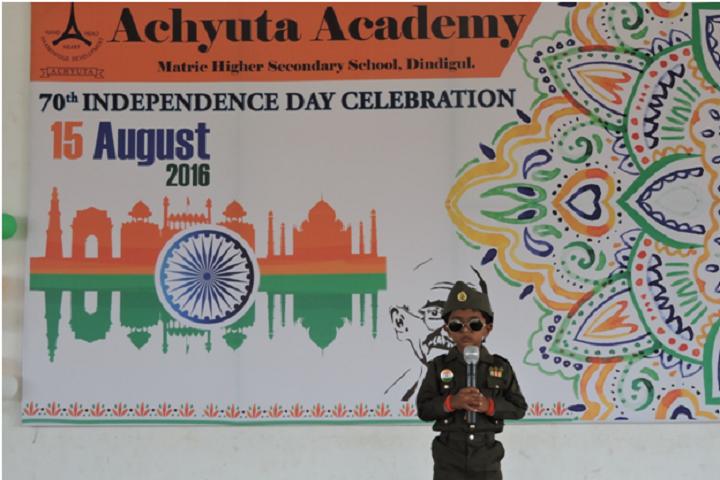 Achyuta Academy School-Independence Day