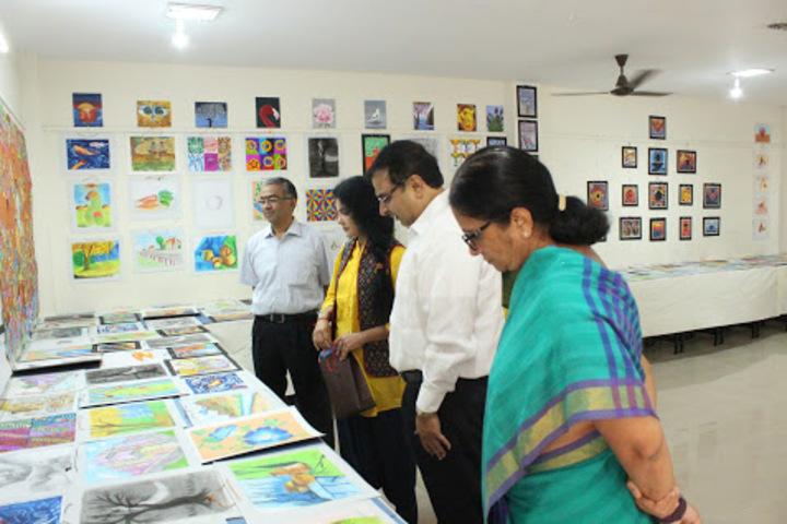 B V bhavans rajaji vidyashram-Art Exhibition