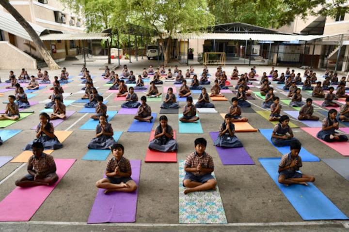 B V bhavans rajaji vidyashram-International Yoga Day
