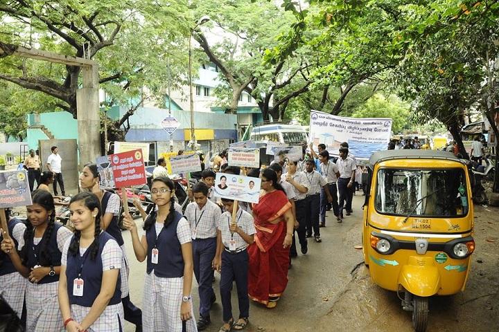 Bhaktavatsalam Vidyashram-Rally On Rain Water Harvesing