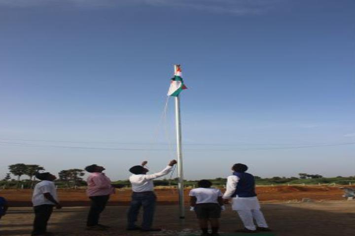 Bodhi International School-Flag Hoisting