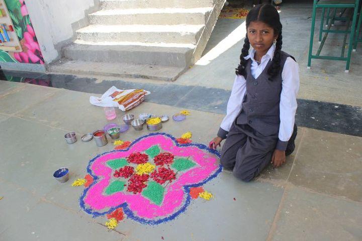 Bodhi International School-Rangoli