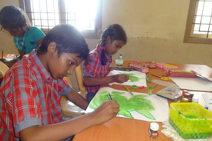 Dharani International School-Painting work