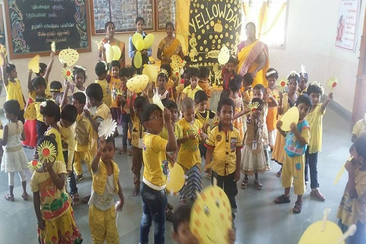 Dharani International School-Yellow day