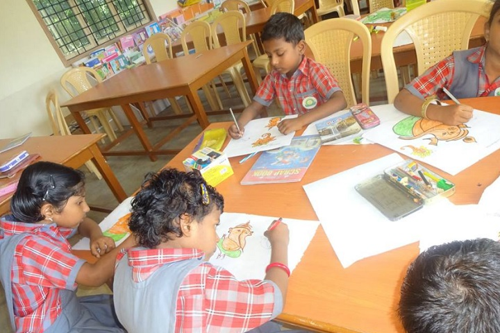Dharani International School-drawing work