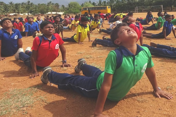 Dharani International School-yoga activity