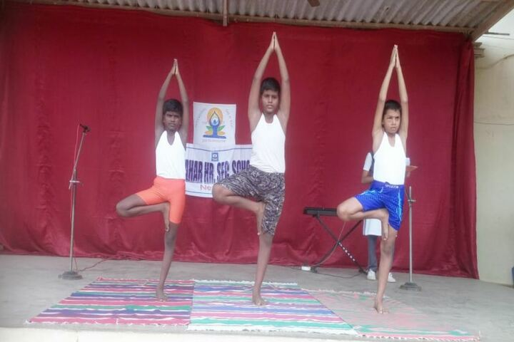 Jawahar Higher Secondary School-Yoga Day