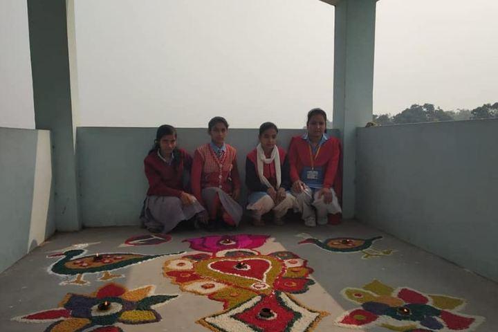 P C High School-Rangoli