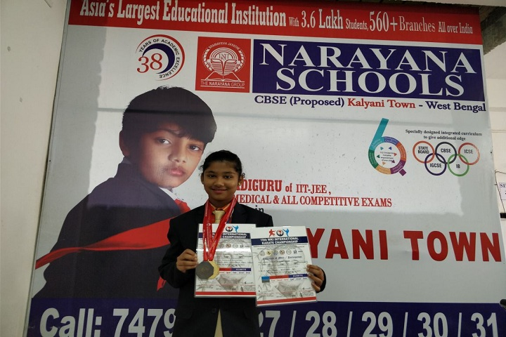 Narayana Olympiad School -Karate competition Winner