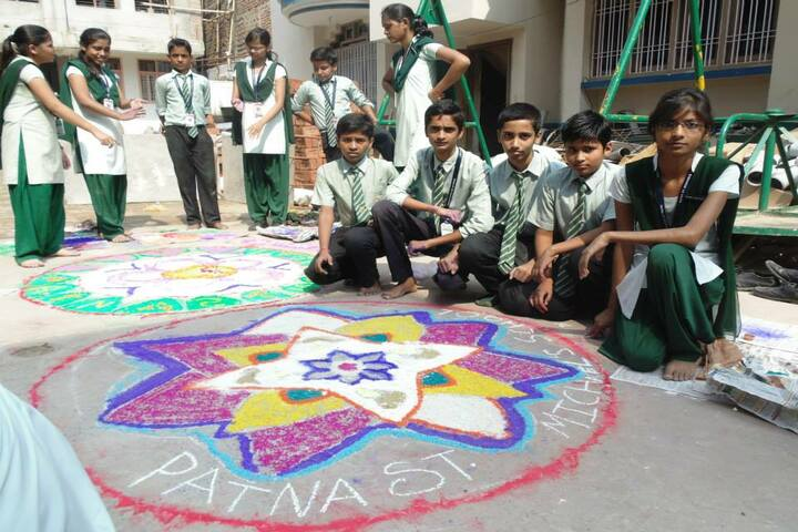 St MichaelS School-Rangoli Competition