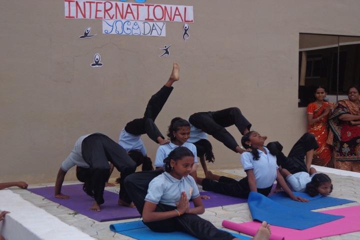 Pon Vidya Mandir Senior Secondary School-Yoga Day