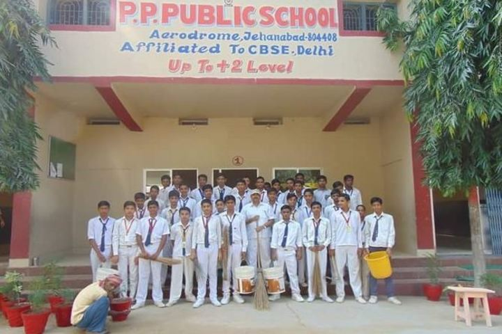 Pratibha Punj Public School-Cleaning Campaign