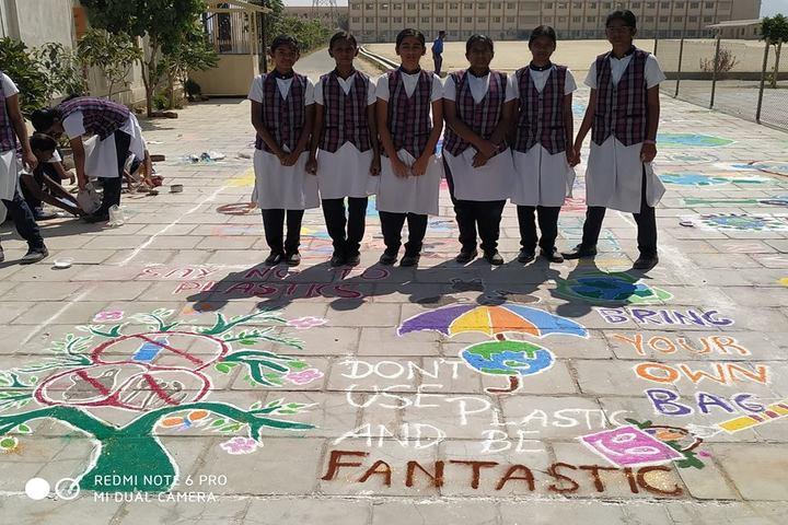 The Vijay Millennium School- Rangoli
