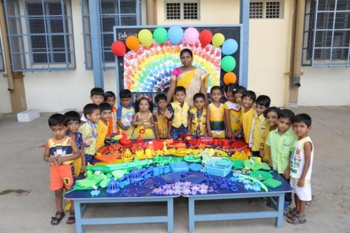 V V N K M English Medium School-Rainbow Day