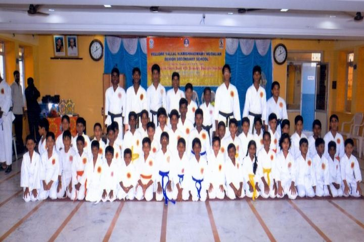 V V N K M English Medium School-Karate Team