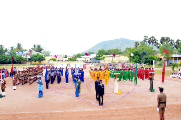 V V N K M English Medium School-Sports Day Celebration