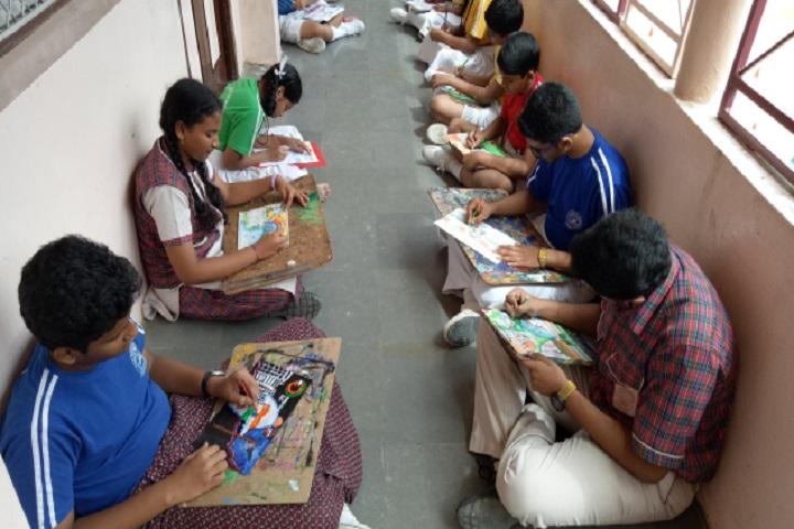 DAV Public School-Painting activity