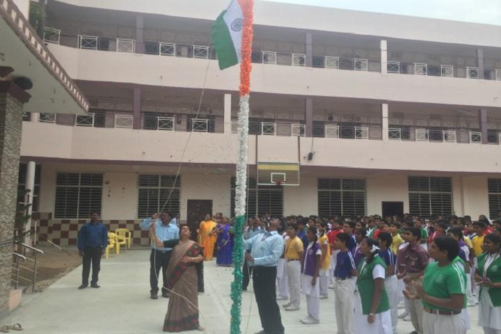 DAV Public School-flag hoisting
