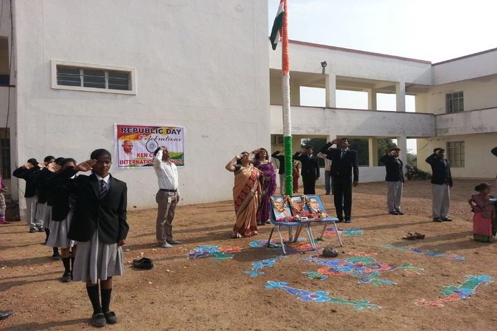 Kencrest International School-Flag Hoisting
