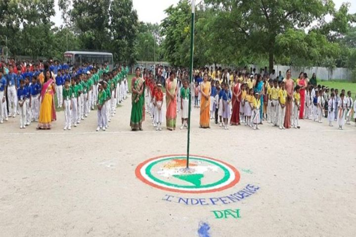 Ramji Prasad Sahu Public School-Flag Hoisting