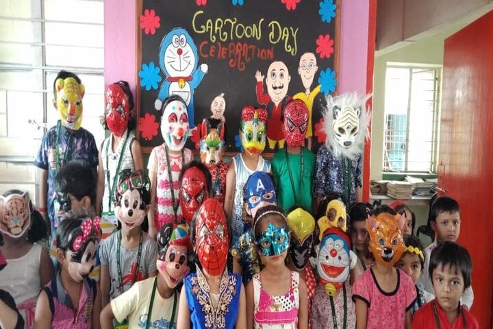 Raza International Girls School-Cartoon Day