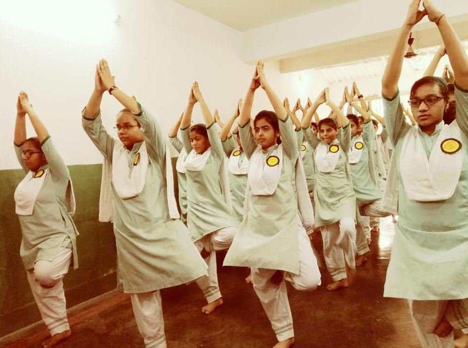Raza International Girls School-Yoga Day