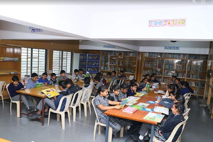P Obul Reddy Public School-Library