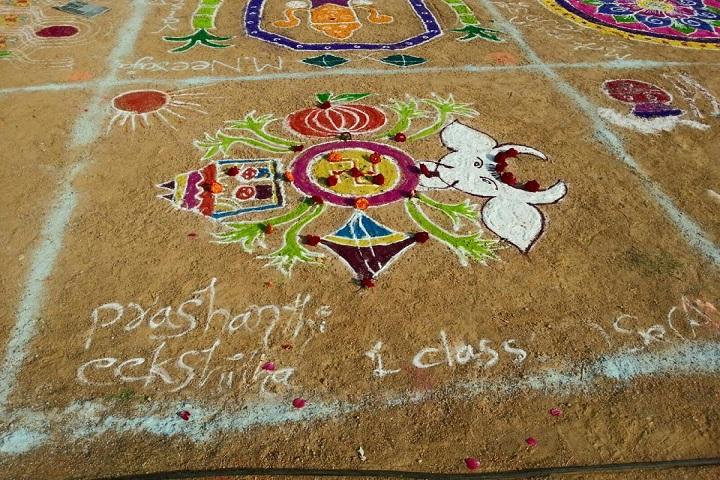 Pioneers International School-Rangoli Competition
