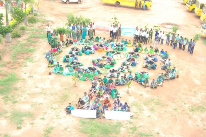 Sai Spurthi D A V School-Environment Day