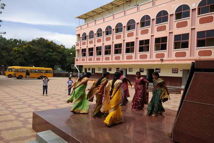 Saritha Vidya Niketan-staff dance activity