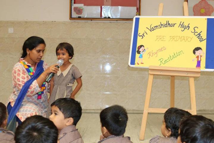 Sri Vamshidhar High School-Rhyms Reciation
