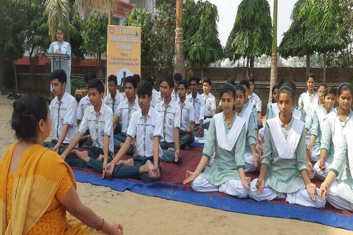 S T Raza International School-Yoga Day