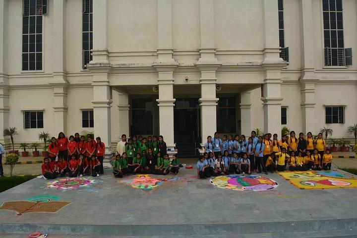 A M World School-Rangoli