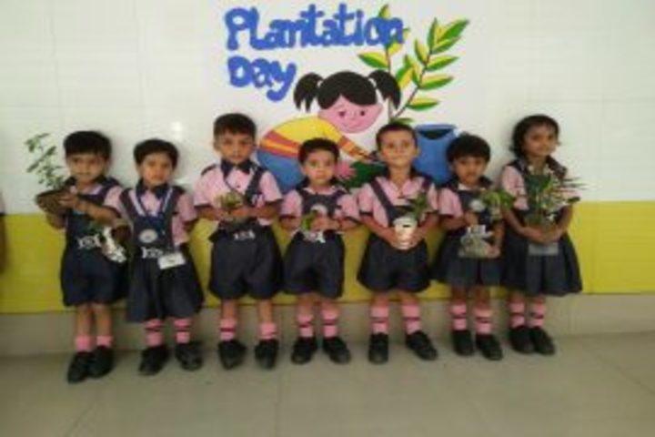 A K Children Academy-plantation day