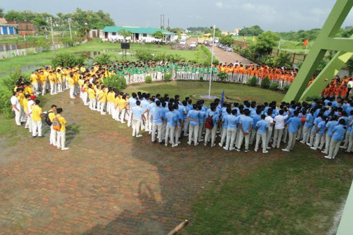 Aatmdeep Vidyalaya-Flag hoisting