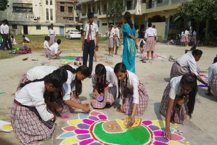 S K Mother International School-Rangoli