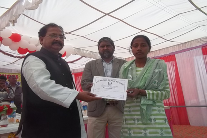 Al Farooq Public School - Certificate Distribution