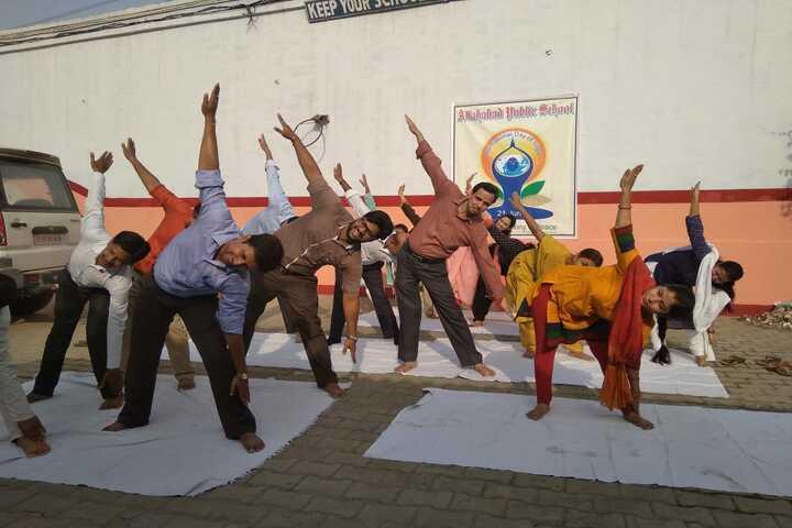 Allahabad Public School - Yoga Day