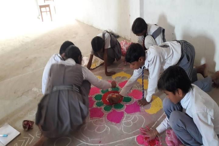 Aloft Dale School-Rangoli Competition