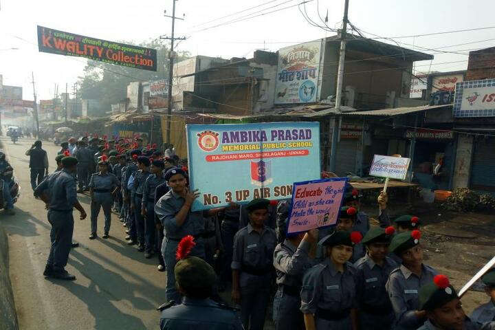 Ambika Prasad Memorial Public School - Rally To Educate The Girl Child