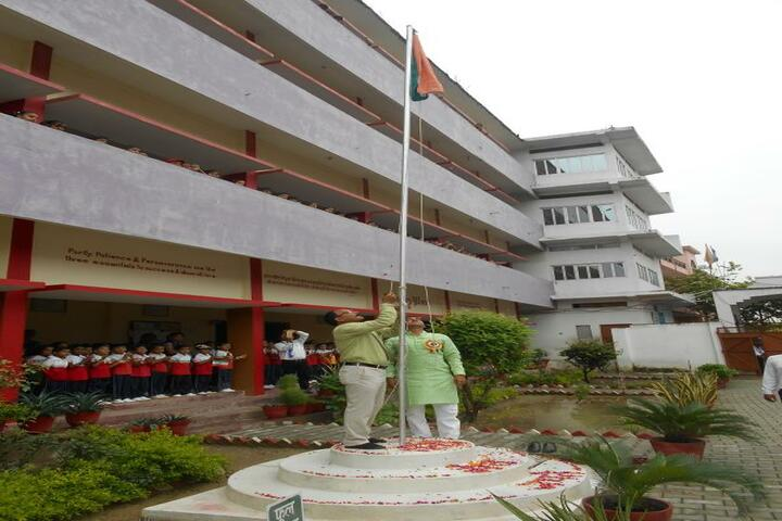 Amrit Public School-Flag Hoisting