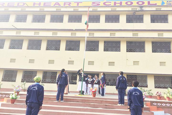 Sacred Heart School-Flag Hosting