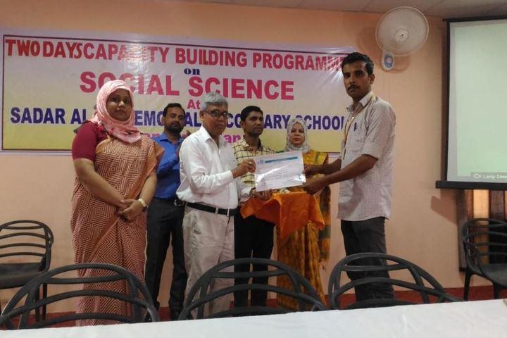Sadar Alam Memorial Secondary School-Certification