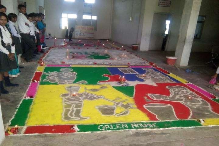 Arsh Public School-Rangoli Competition