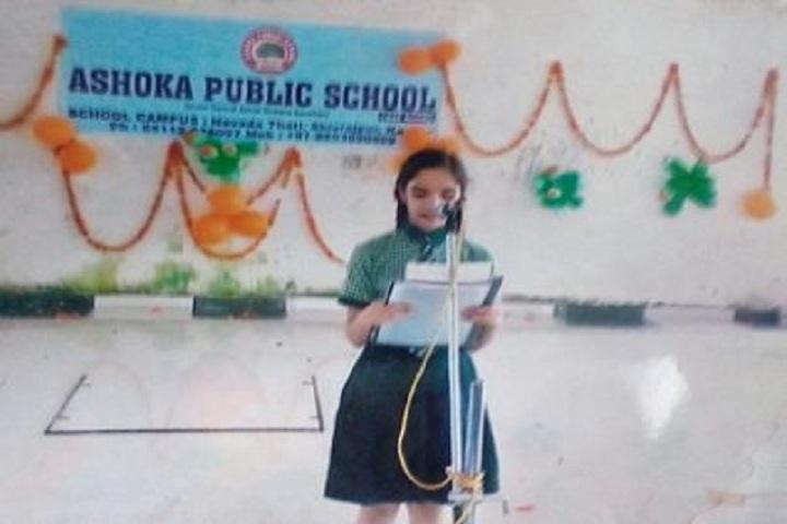 Ashoka Public School-Addressing Speech
