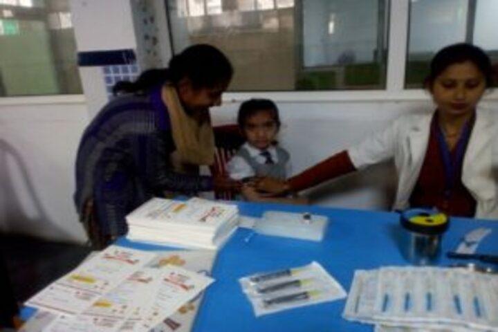 Baby Martin international school- vacination